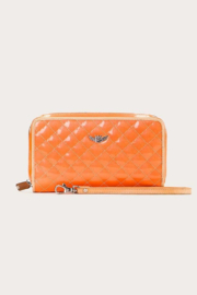 The Birds Nest CLASSIC WRISTLET WALLET-CANDY TANGERINE DREAM - Front cropped