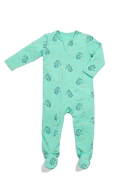 Egg  by Susan Lazar Classic Zipper Unicorn Footie - Front cropped