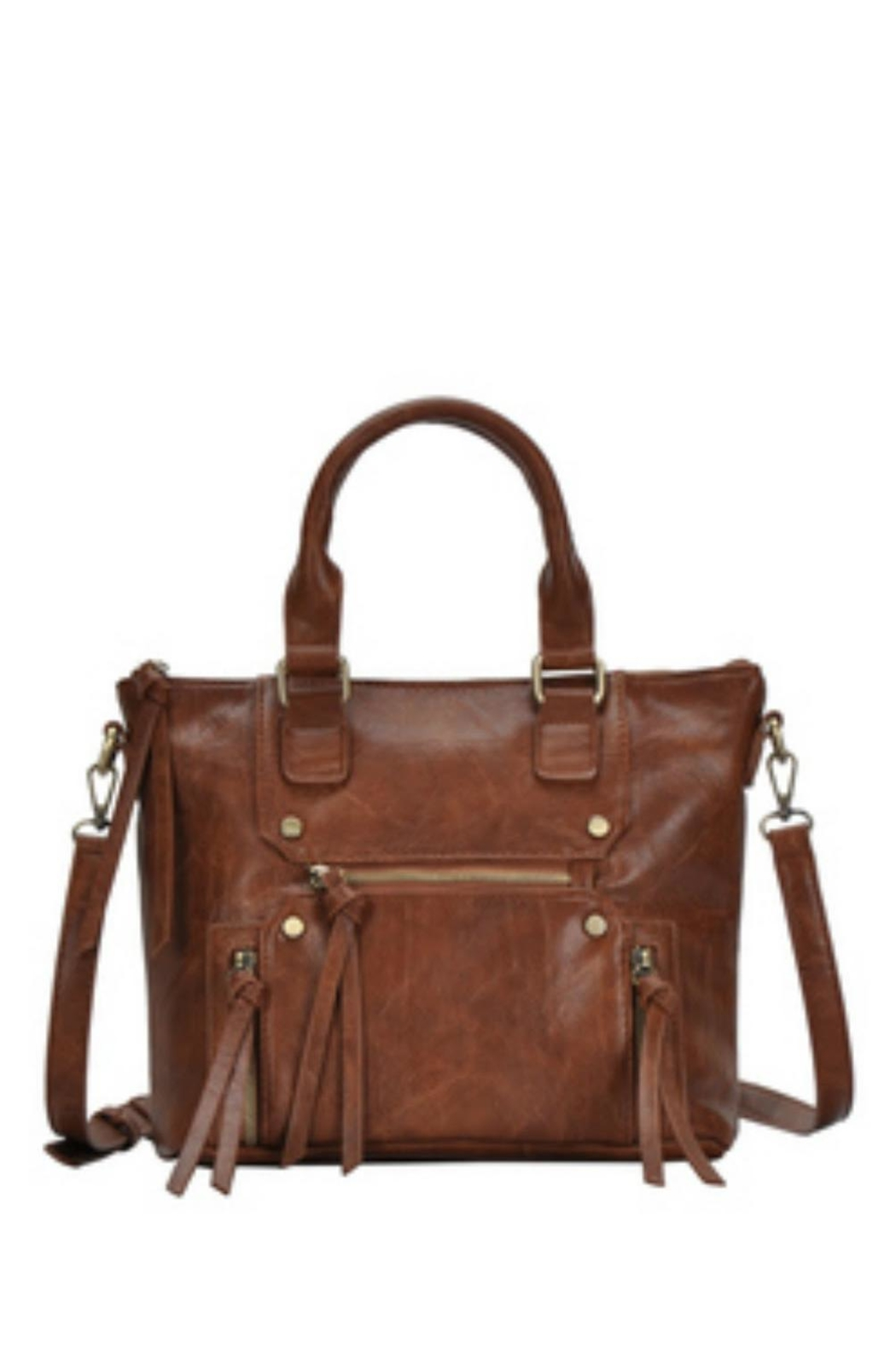 Classic Trendz Boutique Abagail Brown Handbag - Front Cropped Image