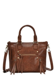 Classic Trendz Boutique Abagail Brown Handbag - Front cropped