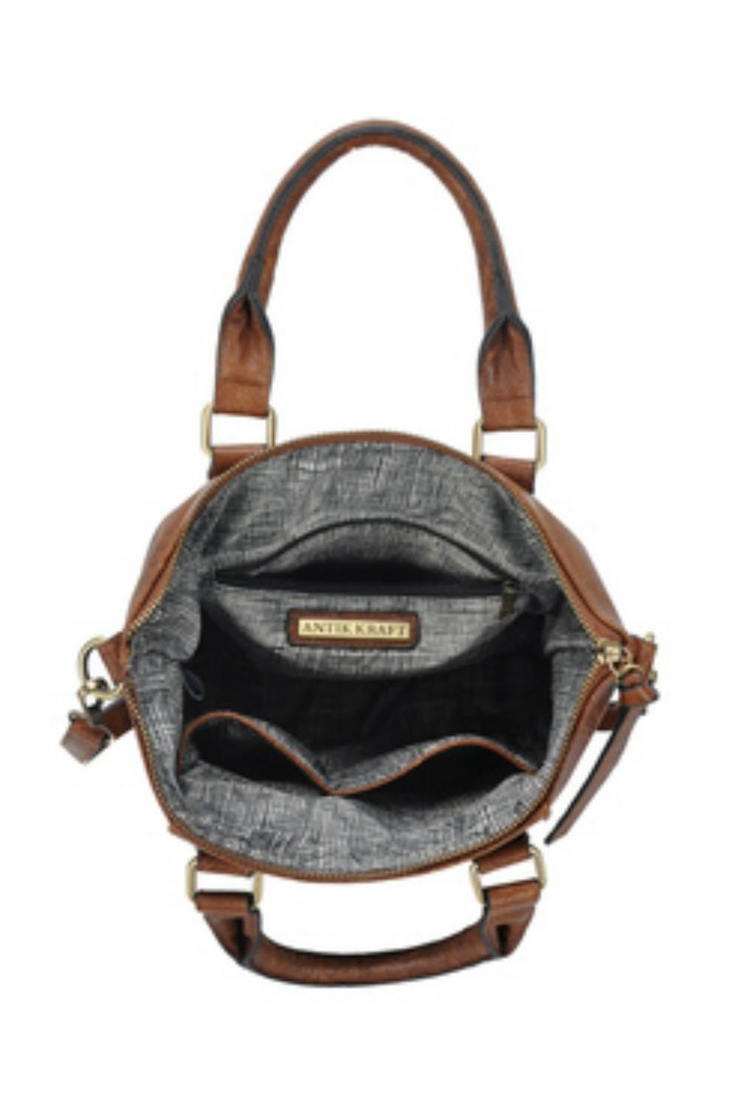 Classic Trendz Boutique Abagail Brown Handbag - Side Cropped Image