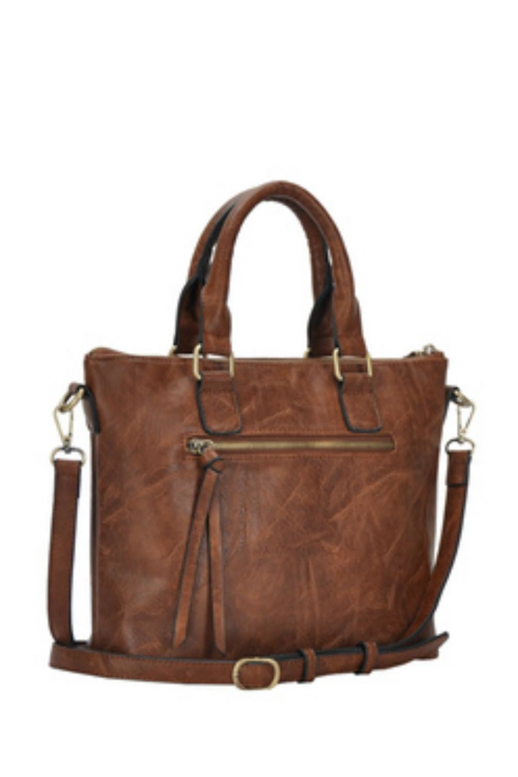 Classic Trendz Boutique Abagail Brown Handbag - Front Full Image