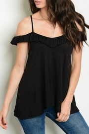 Classic Trendz Boutique Black Cold-Shoulder Top - Product Mini Image