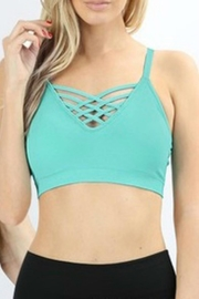 Classic Trendz Boutique Criss-Cross Padded Bralette - Front cropped