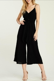 Classic Trendz Boutique Cropped Black Jumpsuit - Front full body