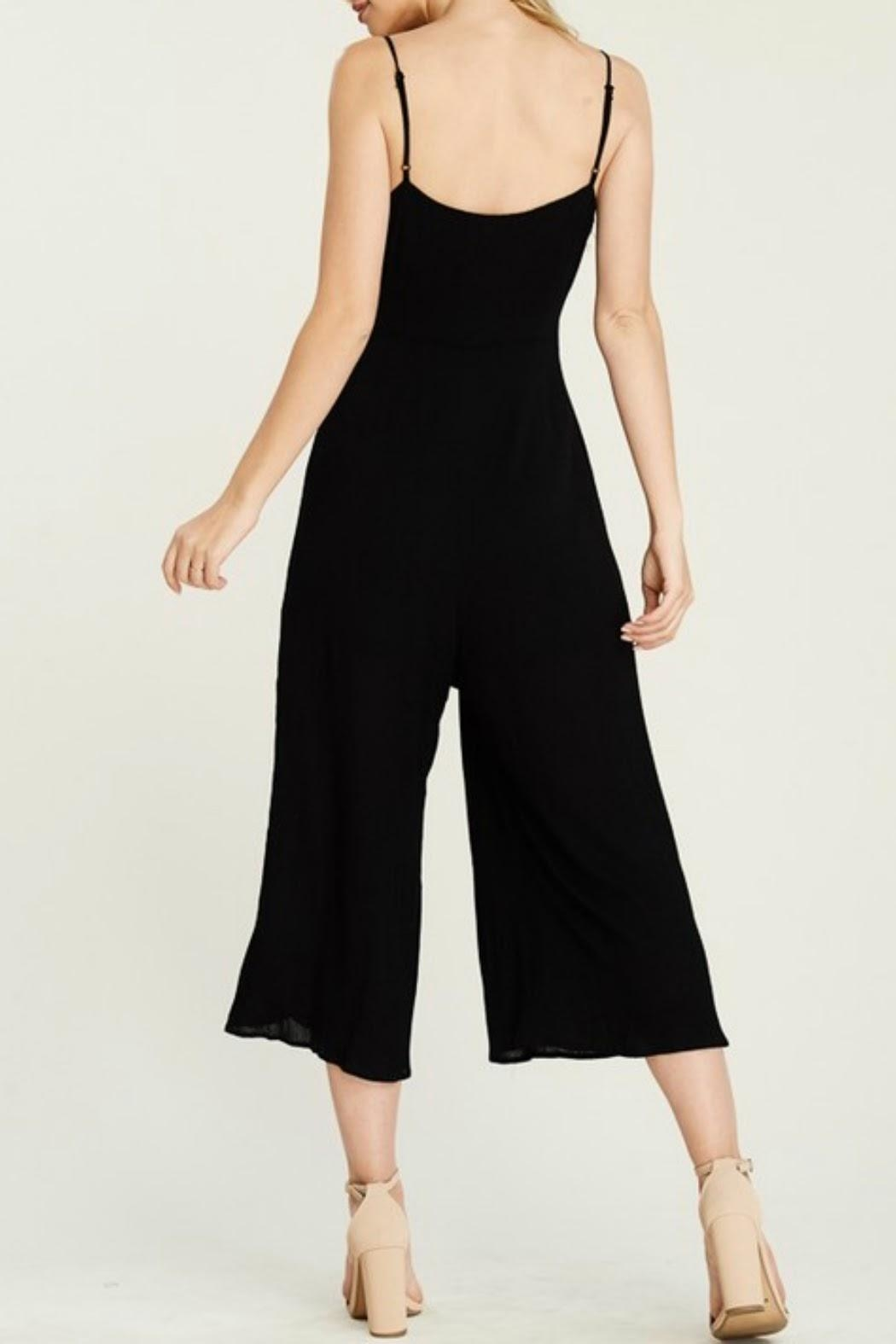 Classic Trendz Boutique Cropped Black Jumpsuit - Side Cropped Image