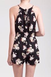 Blu Pepper Floral Printed Romper - Back cropped