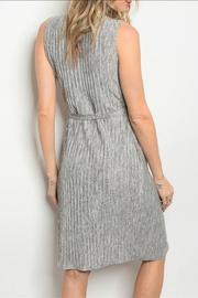 Classic Trendz Boutique Grey Wrap Dres - Front full body