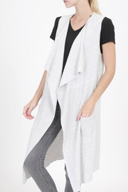 Classic Trendz Boutique Heather-Grey Sleveless Cardigan - Front cropped