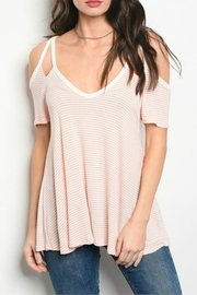 Classic Trendz Boutique Peach Cold-Shoulder Top - Product Mini Image