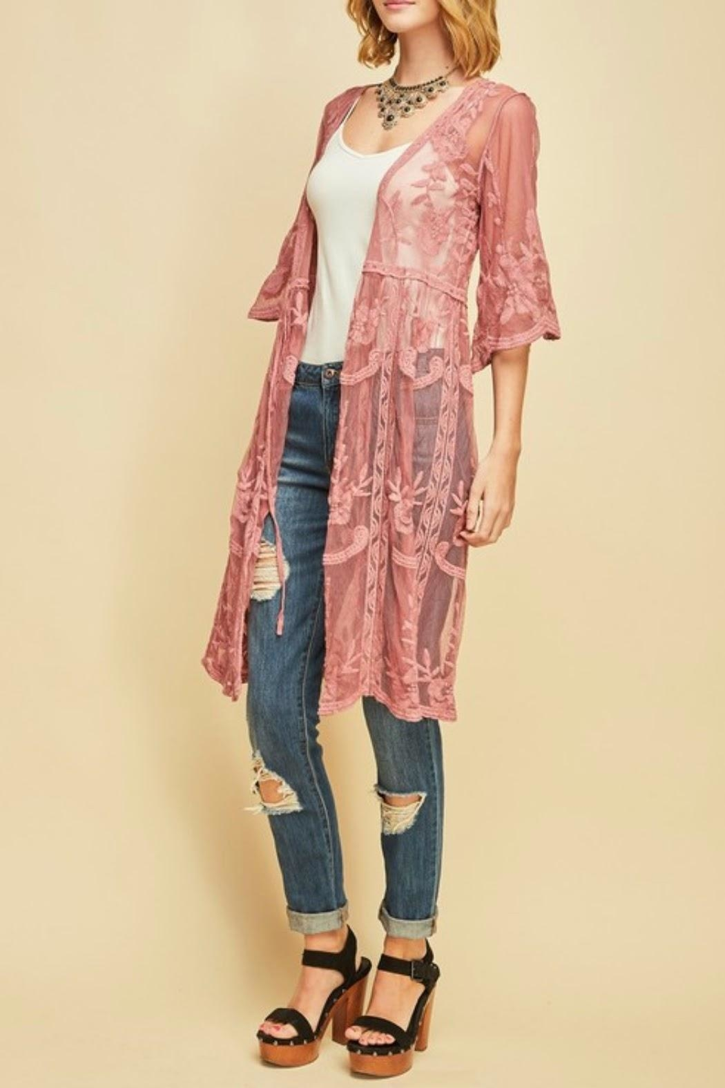 Classic Trendz Boutique Sheer Lace Kimono from California by Classic ...