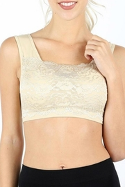Classic Trendz Boutique Taupe Lace Bralette - Front cropped