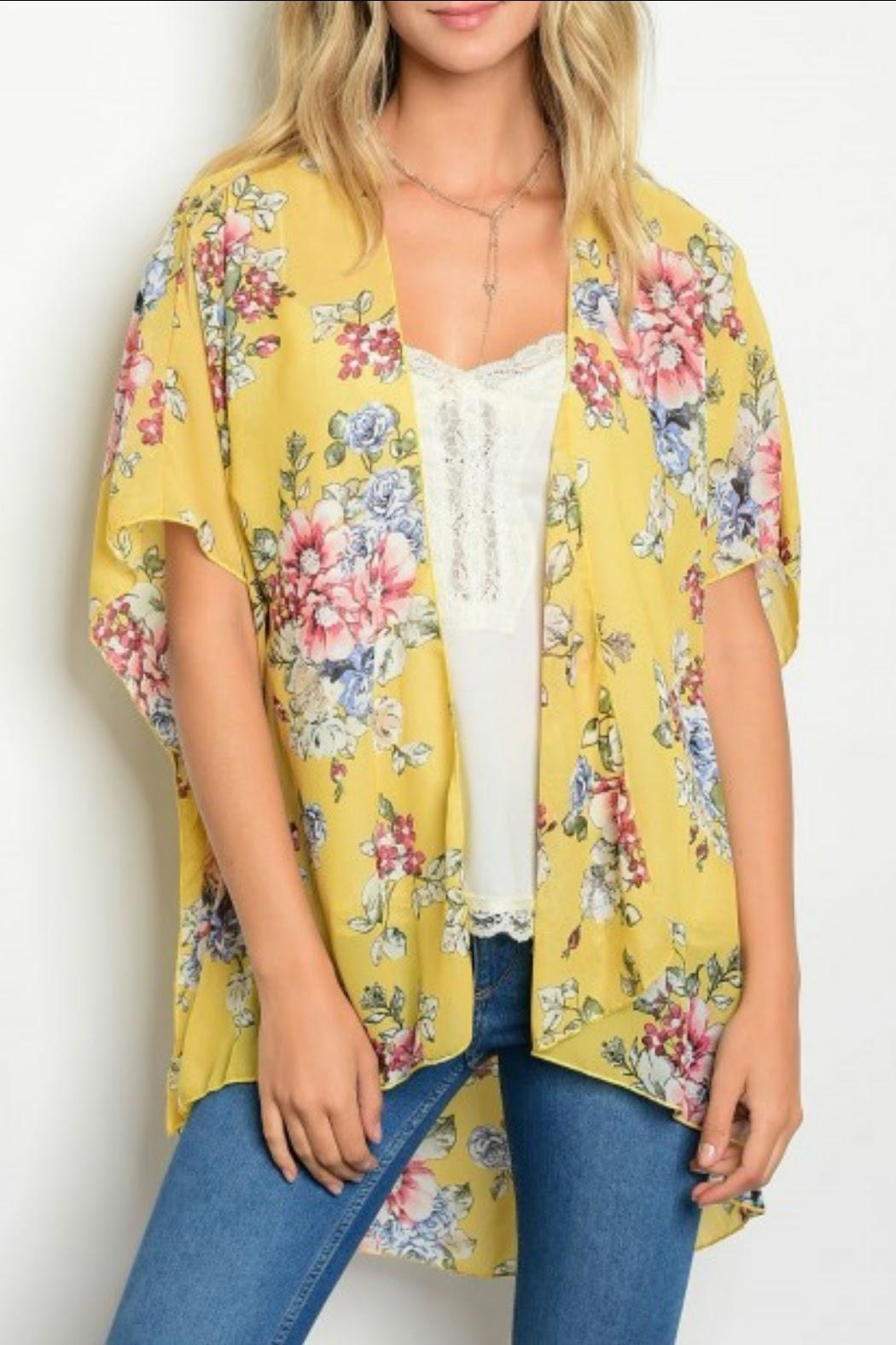 Classic Trendz Boutique Yellow Floral Kimono from California by ...