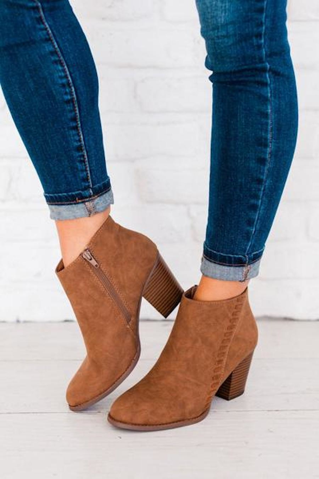 Classified My Everyday Camel Booties - Main Image