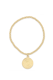 enewton designs CLASSSIC GOLD 3MM BEAD ATHENA SMALL CHARM BRACELET - Front cropped