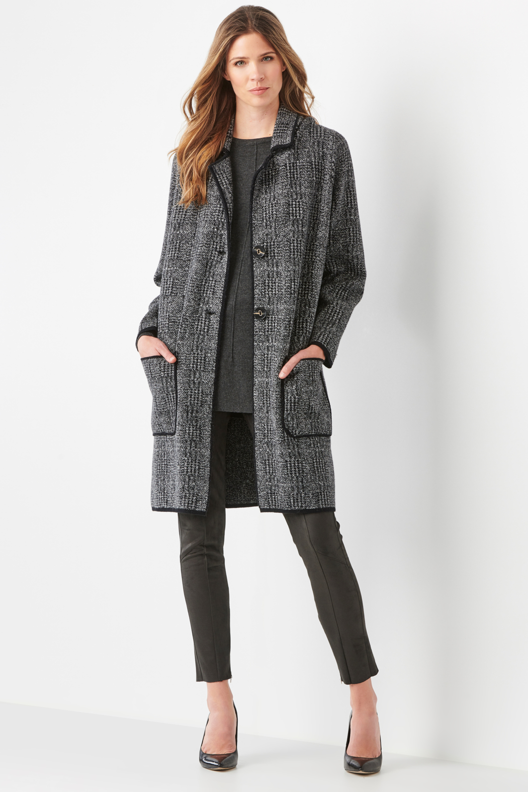 Charlie Paige  Classy Sweater Coat - Front Cropped Image
