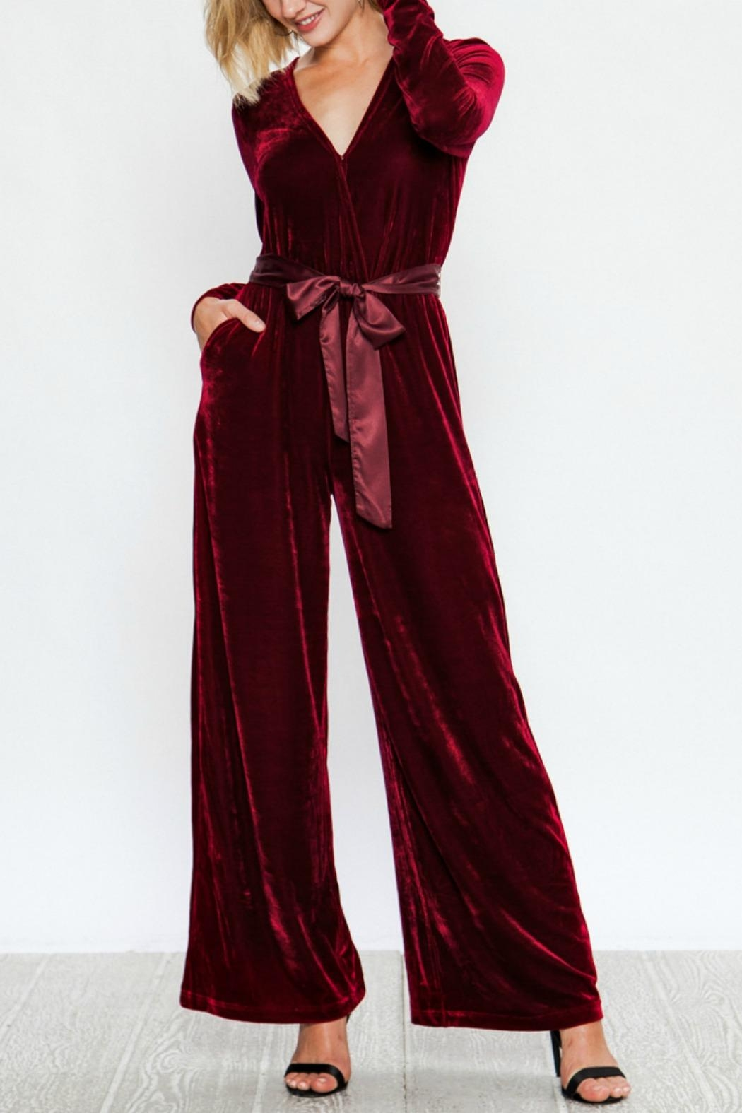 f8ed89a0cc2 A. Calin Classy Velvet Jumpsuit from Texas by BareTrees Boutique ...