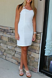 Elise Classy White Dress - Front cropped