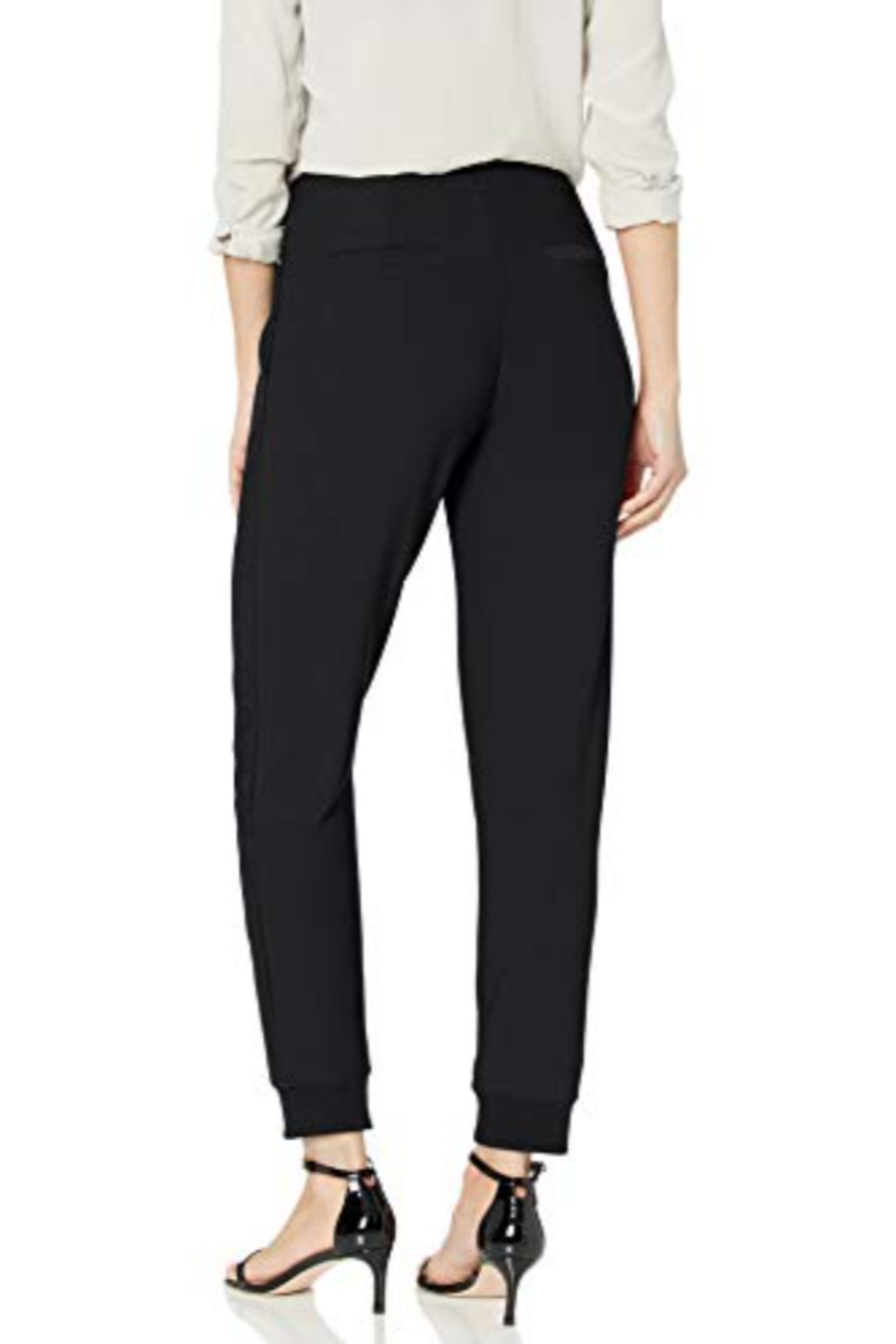 Lysse Claudia jogger with vegan leather trim - Front Full Image