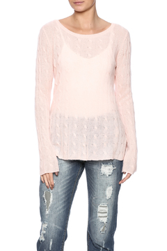 Claudia nichole Cashmere Cable Knit Pullover - Product List Image