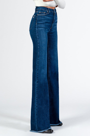 Black Orchid Denim Claudia Wide Leg Jeans - Front cropped