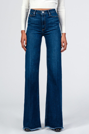 Black Orchid Denim Claudia Wide Leg Jeans - Front full body