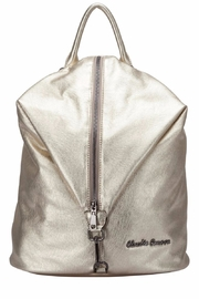 Claudia Canova Gold Metallic Backpack - Product Mini Image