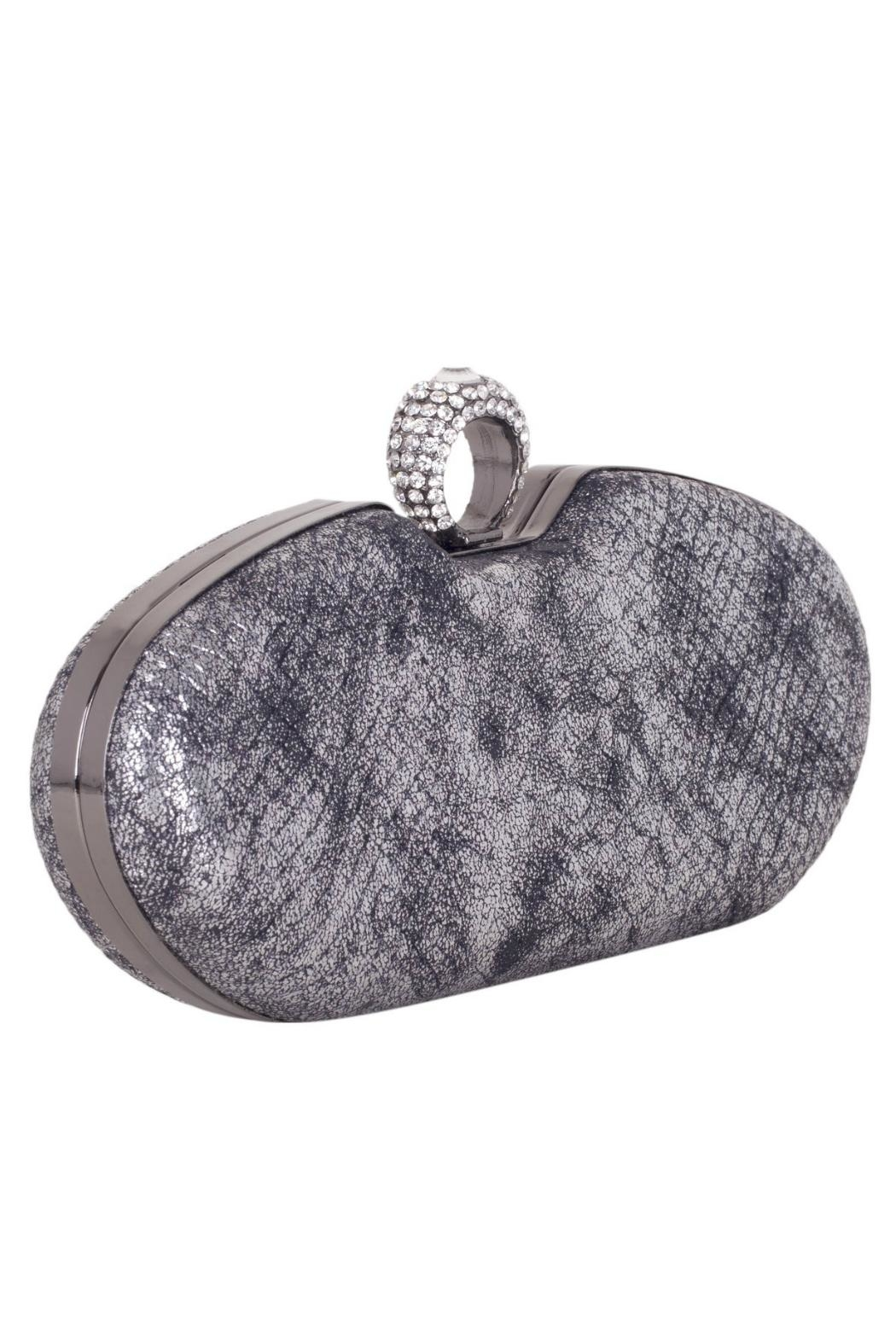 Claudia Canova Snake Metallic Clutches. - Front Full Image