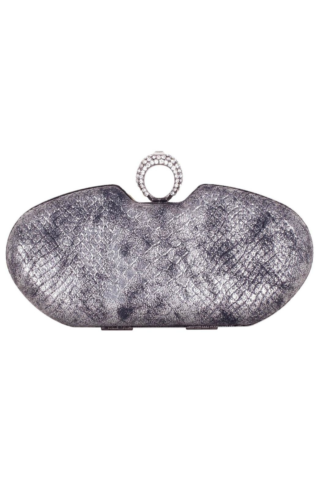 Claudia Canova Snake Metallic Clutches. - Front Cropped Image