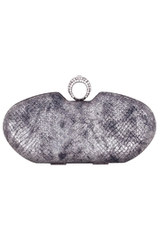 Claudia Canova Snake Metallic Clutches. - Front cropped
