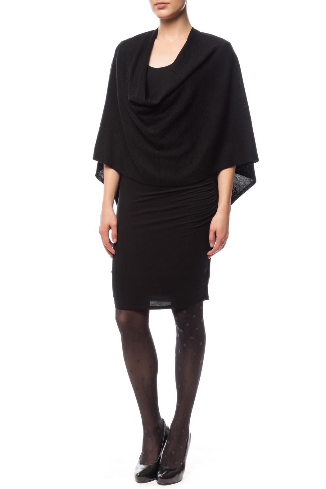 Claudia nichole Cashmere Topper Ebony - Front Cropped Image