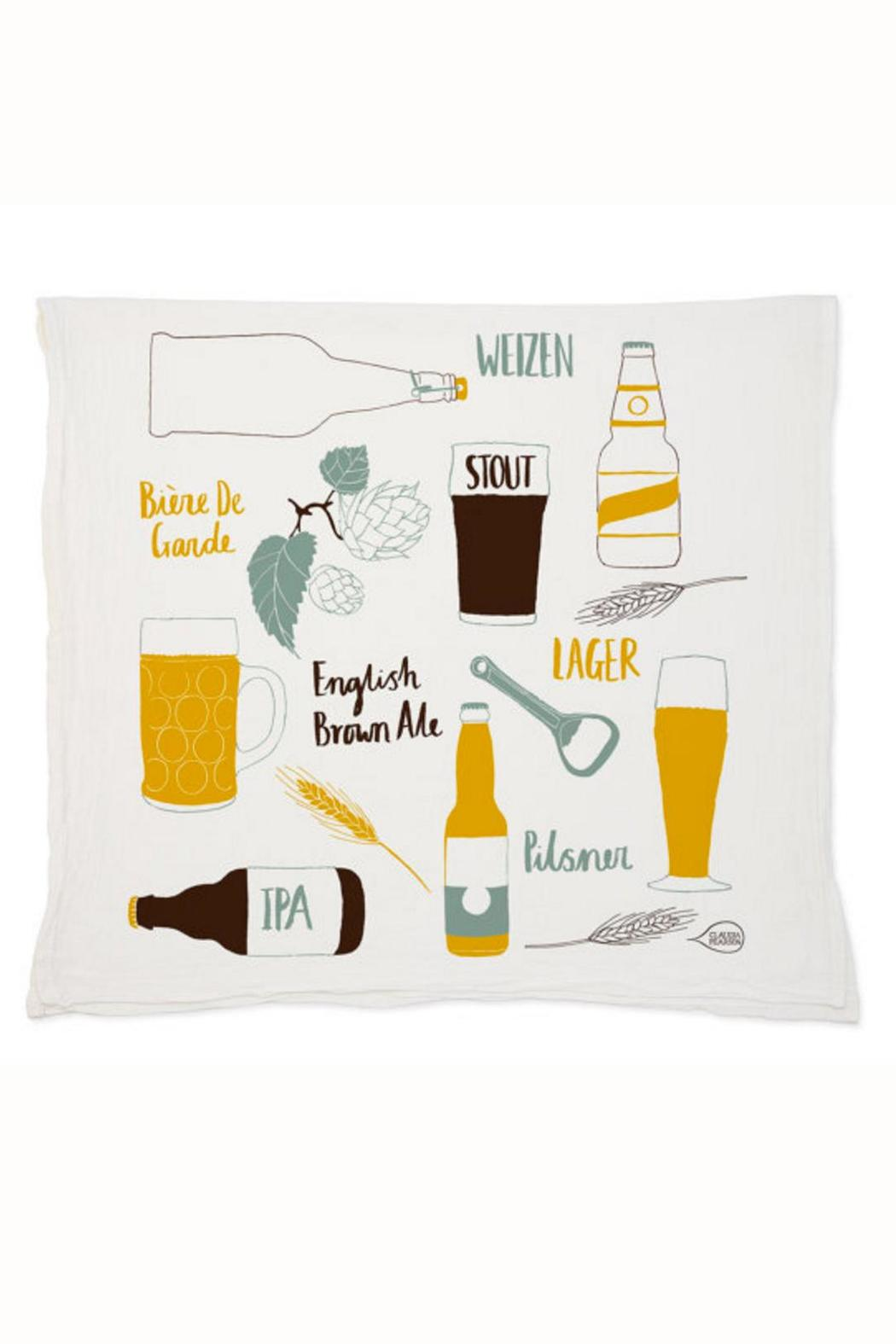 Claudia Pearson Beer Tea Towel - Front Cropped Image