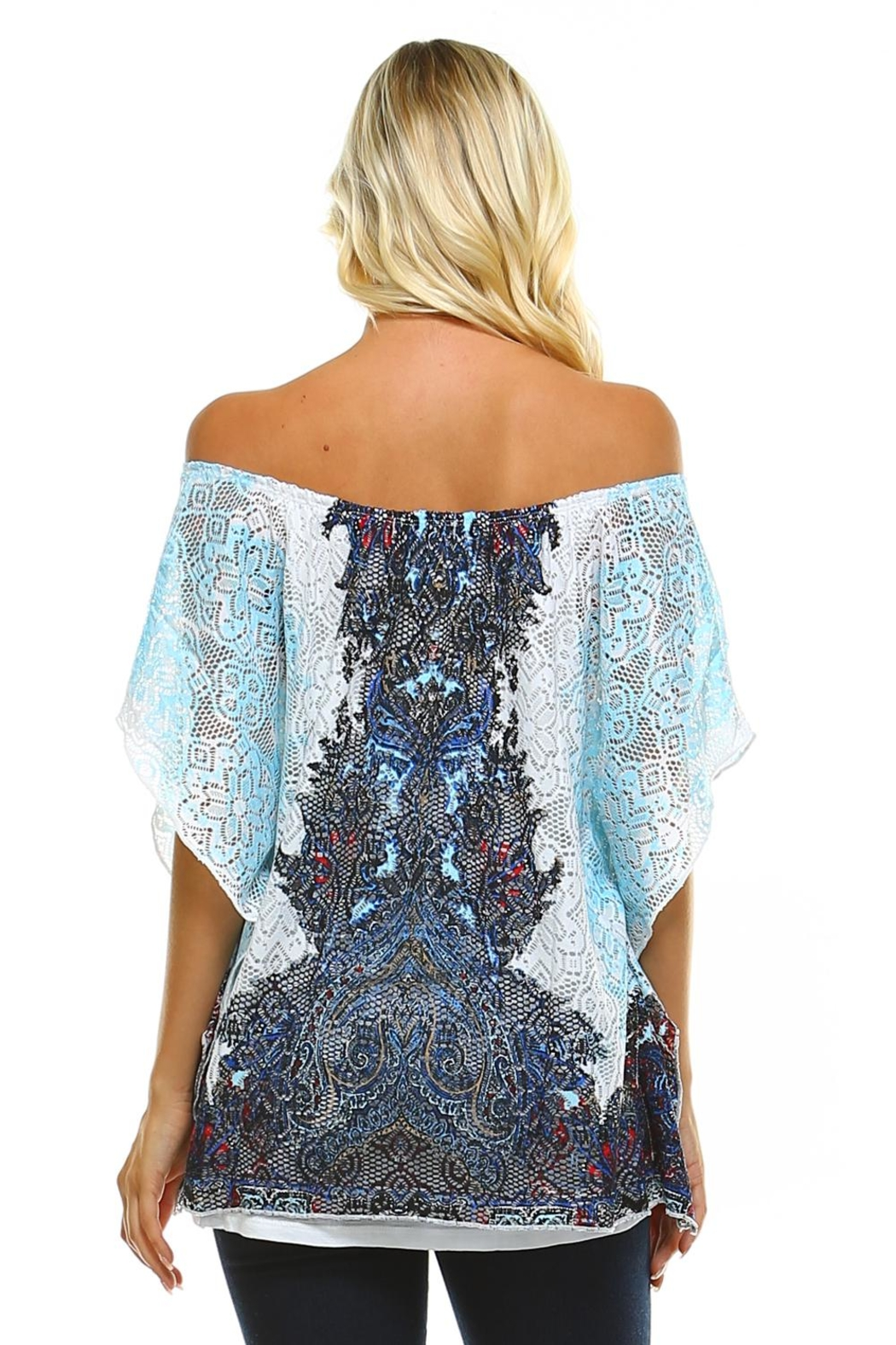 Claudia Richard Lace Dolman Top - Side Cropped Image