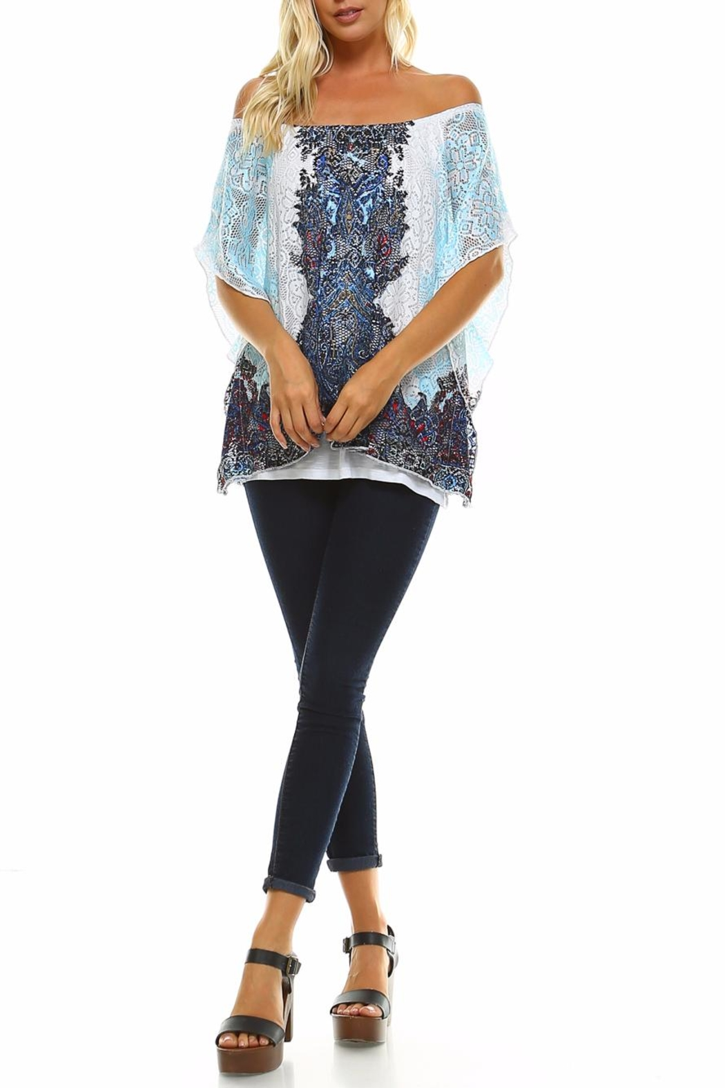 Claudia Richard Lace Dolman Top - Front Full Image