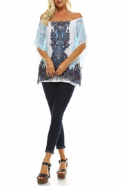 Claudia Richard Lace Dolman Top - Front full body