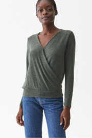 Michael Stars Claudine Surplice Top - Side cropped