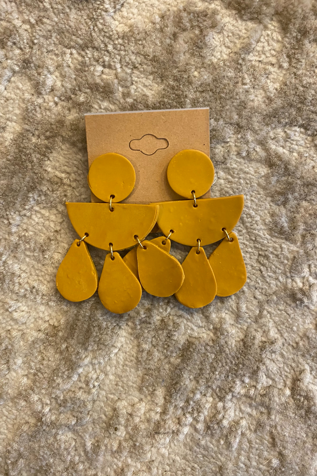 Necessary Creations Clay Mustard Seed Dangle Earrings - Main Image