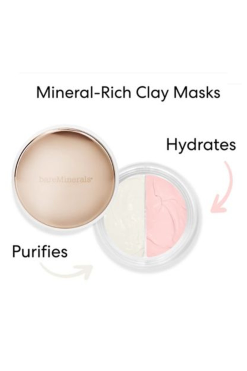 bareMinerals CLAYMATES BE PURE & BE DEWY MASK DUO Clay Face Mask Set - Front Full Image