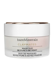 bareMinerals CLAYMATES BE PURE & BE DEWY MASK DUO Clay Face Mask Set - Product Mini Image