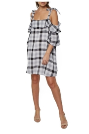 Clayton Checker Off-Shoulder Dress - Product Mini Image