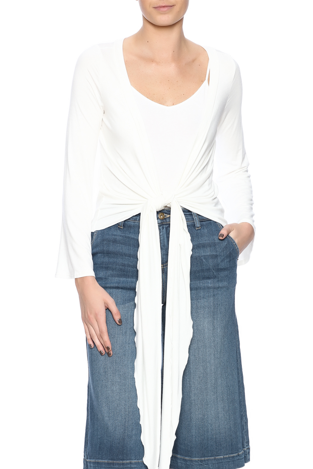 Clea Ray Perfect Wrap Top - Front Cropped Image