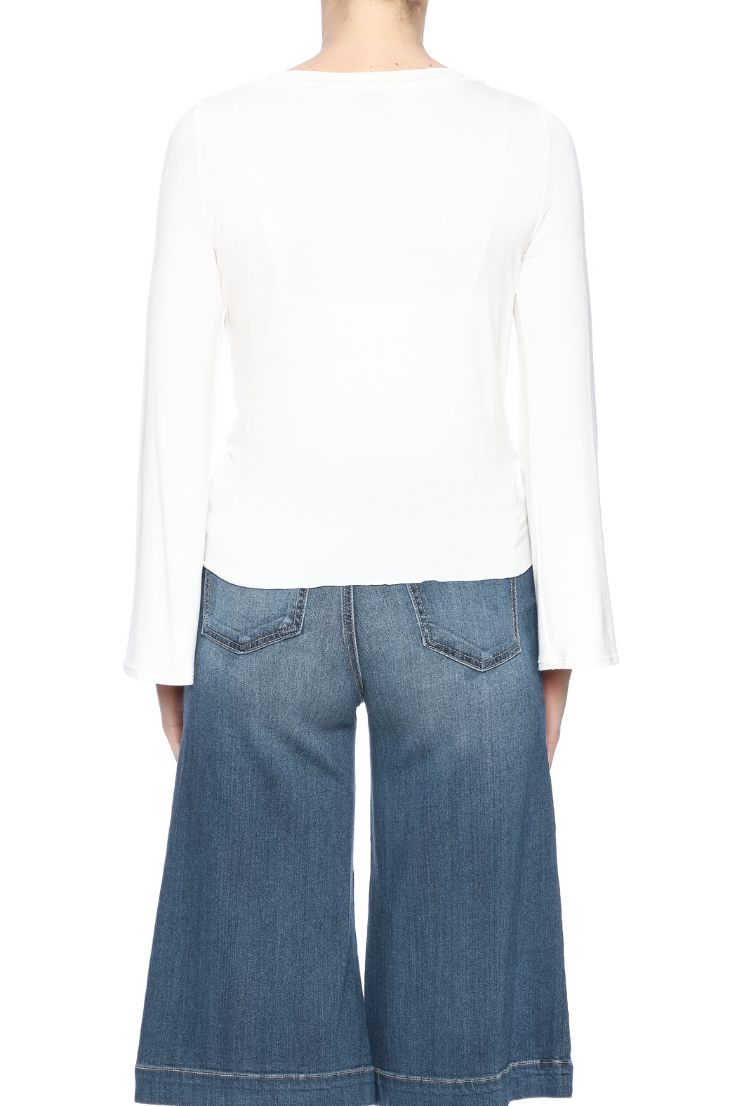 Clea Ray Perfect Wrap Top - Back Cropped Image