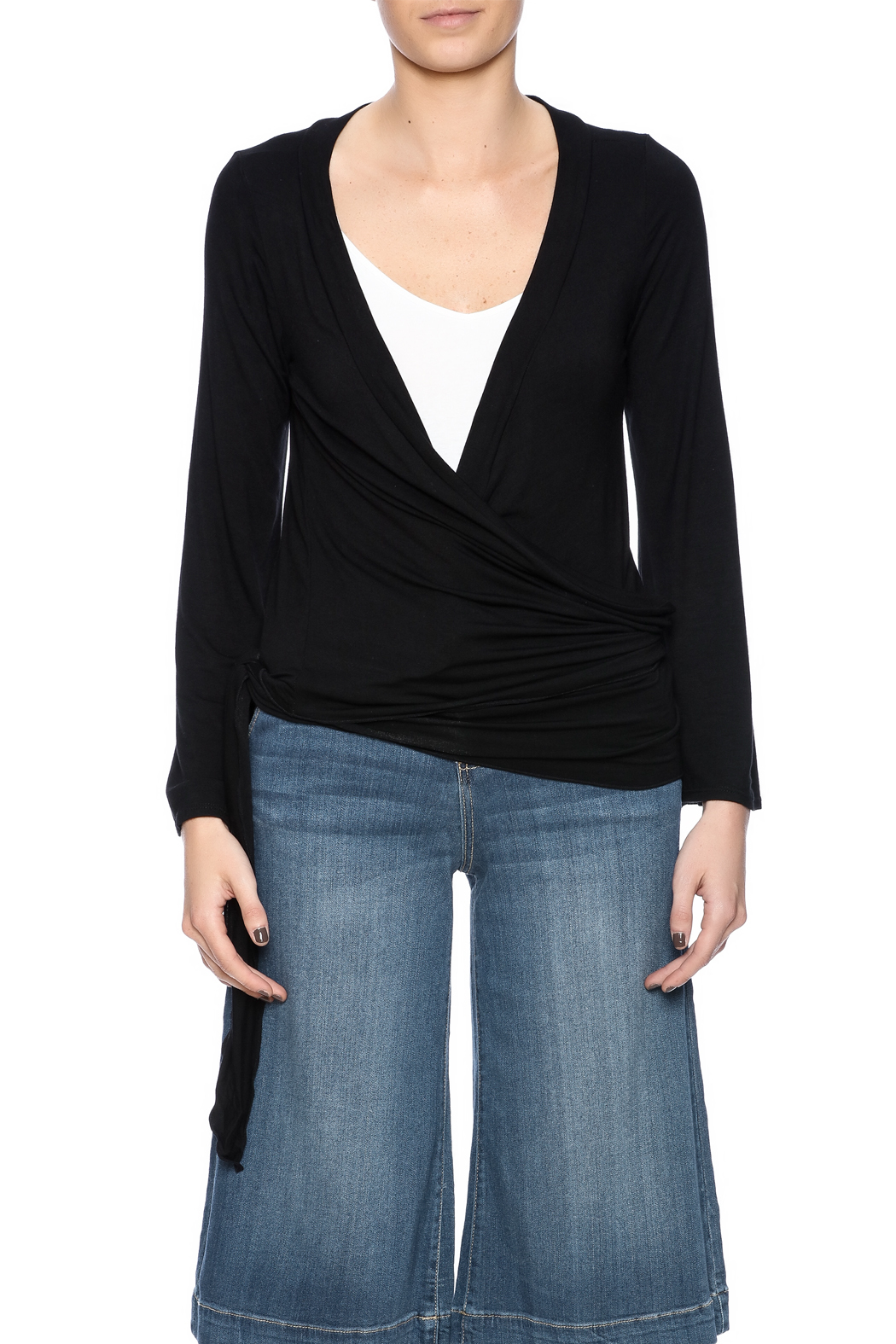 Clea Ray Perfect Wrap Top - Side Cropped Image