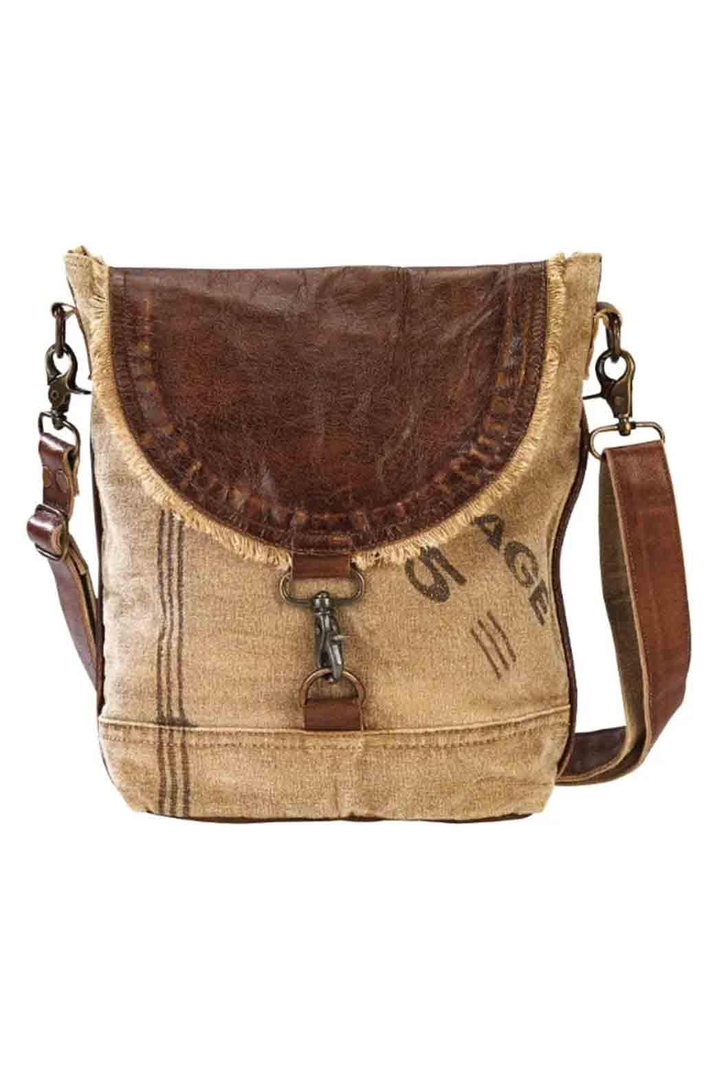 Clea Ray Leather Flap Handbag - Front Cropped Image