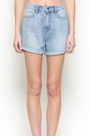 Hidden Jeans Clean Cuffed Mom Shorts - Product Mini Image