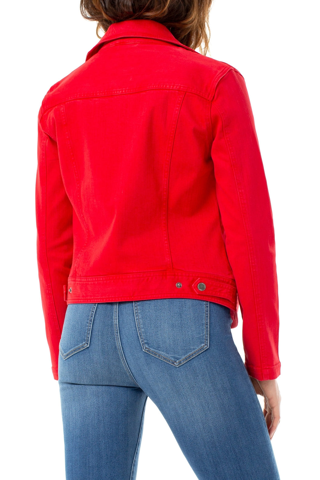 Liverpool  Clean Moto Jacket - Side Cropped Image