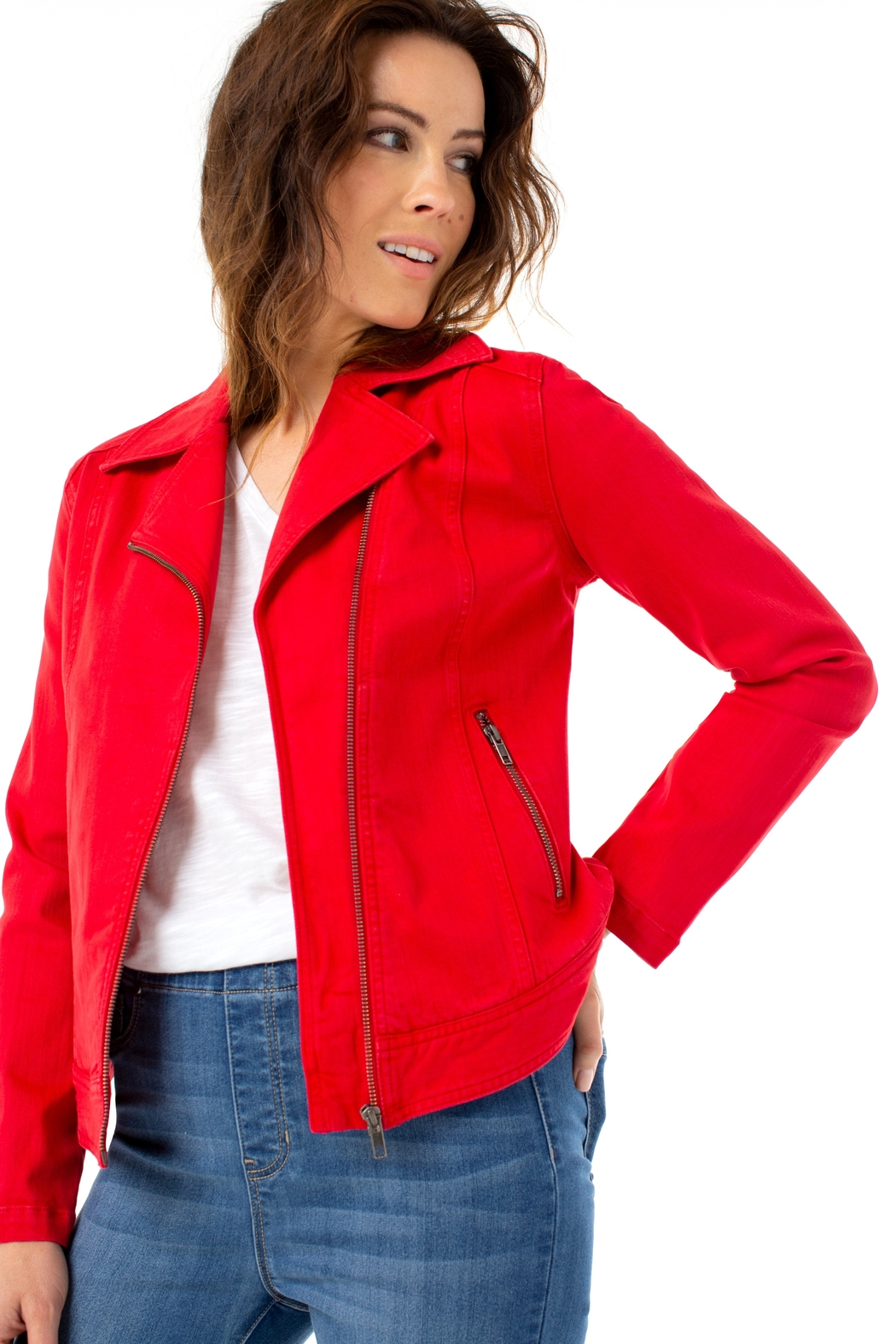 Liverpool  Clean Moto Jacket - Front Full Image