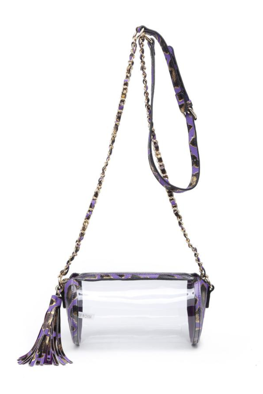 jen & co Clear Crossbody Bag - Front Cropped Image