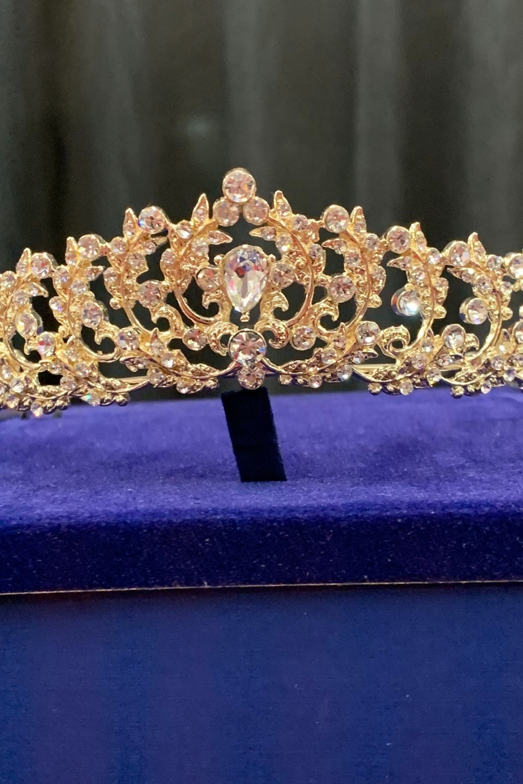 Lucky Collections Clear Crystal Tiara - Front Cropped Image