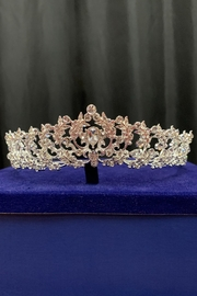 Lucky Collections Clear Crystal Tiara - Side cropped